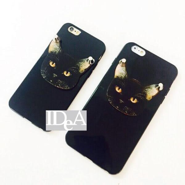 Apple iPhone5/5s 大頭貓造型鉚釘手機保護套 TPU軟殼 搖滾龐克風格 PUNK ROCK Apple 蘋果