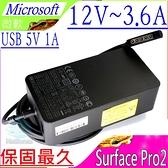 Microsoft 1601,1536 充電器(保固最久)-微軟 12V,3.6A,48W, SurFace Pro 1,Pro 2,USB 5V,1A,平板變壓器