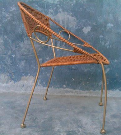 宜家居靠背小籐椅 陽台塑膠矮凳子鐵藝籐椅