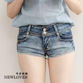 超彈性短褲 NEW LOVER牛仔時尚【111-5777】顯瘦大推激瘦超彈性短褲-S-L