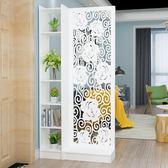 歐式客廳玄關櫃屏風隔斷簡約現代門廳雕花鏤空花架置物儲物展示櫃 週年慶降價
