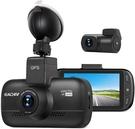 "Eachpai【美國代購】4K行車記錄器 前後攝像頭WiFi GPS 3""LCD 170°廣角Sony傳感器K200 Pro"