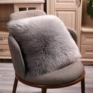 現代簡約北歐式長毛絨抱枕含芯仿羊毛靠墊套沙發床頭毛毛抱枕靠枕