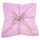 NINA RICCI典雅花卉圖騰絹絲綿領帕巾(粉紫色)989028-D