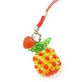 紅黃水晶旺來與紅瑪瑙心開運吊飾