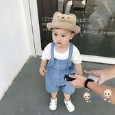 吊帶褲 嬰童裝 男兒童牛仔吊帶褲薄 寶寶夏裝 兒童連身褲 男童褲子 2色