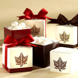 婚禮小物 愛在深秋楓葉喜糖盒 - 喜糖包裝盒/禮物盒/送客禮/送客喜糖/批發 幸福朵朵