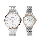 【Fossil】The Andy & Addison甜蜜搭配時尚情人對錶-撞色款/FS5562SET/台灣總代理公司貨享兩年保固