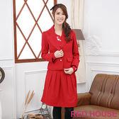【RED HOUSE-蕾赫斯】OL短版西裝外套(紅色) 冬季最後出清