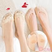 船襪女純棉夏季超薄款淺口全隱形襪套女士夏天短襪子硅膠防滑蕾絲
