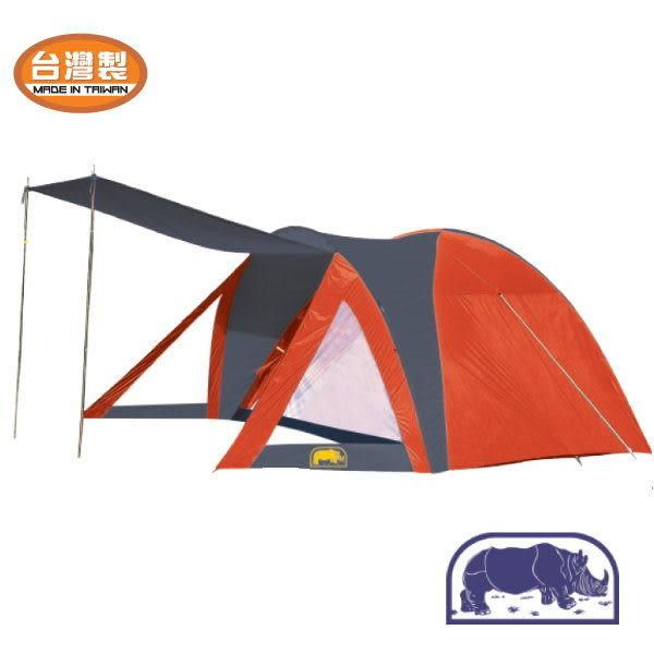 【山水網路商城】RHINO 犀牛A-550 六人豪華雙門蒙古包(附前庭) 帳篷 帳棚