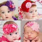 嬰兒髮飾 歐美款花朵髮帶 (花朵長度約15CM) 甜美女娃兒必備  橘魔法Baby magic 現貨