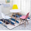 伊姆斯椅餐椅家用椅電腦桌椅塑膠靠背椅現代簡約創意辦公椅洽談椅 【母親節禮物】