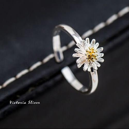 S925銀小雛菊戒指-維多利亞161221