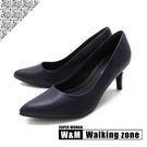 【南紡購物中心】WALKING ZONE SUPERWOMAN系列尖頭高跟上班淑女鞋女鞋-藍(另有黑.白.卡其)