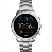 Fossil Q Explorist 系列觸控智能手錶-黑x銀/44mm FTW4000
