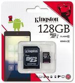 〔3699shop〕kingston金士頓公司貨128G記憶卡含轉卡SDXC Class10 C10行車記錄器攝影機單眼手機