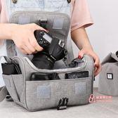 相機包 適用單反相機包女數碼收納包微單袋男鏡頭保護套攝影單肩 2色