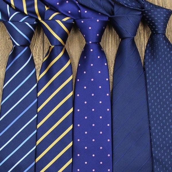 限定款西裝領帶 黑色領帶男正裝商務上班職業結婚新郎學生正韓條紋寬男士領帶學生