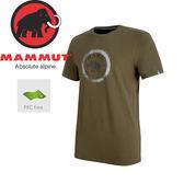 【MAMMUT Seile T-Shirt 男《綠鬣蜥》】1041-09210-4584/長毛象/輕量透氣/懷舊復古/短袖圓領★滿額送