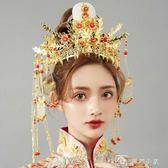 中式新娘頭飾鳳冠結婚秀禾服頭飾 流蘇步搖古裝頭飾配飾 娜娜小屋