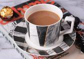 歐式簡約骨瓷咖啡杯碟套裝LVV2158【KIKIKOKO】