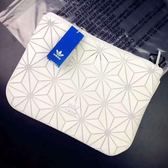 Kumo Shoes-Adidas Originals 三宅一生 白 純白 手拿包 BK2180 菱格 白格紋 3D立體