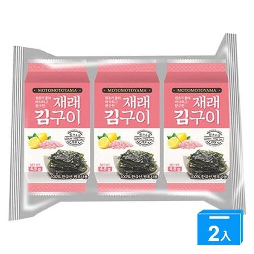 MOTOMOTOYAMA朝鮮海苔檸檬玫瑰13g【兩入組】【愛買】