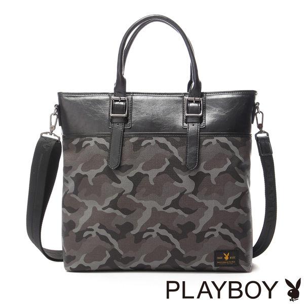 PLAYBOY- Camouflage 越野迷彩兔系列 2WAY手提包-迷彩黑