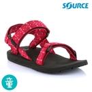 SOURCE Classic kids 兒童運動涼鞋10101340【紅圖騰】 / 城市綠洲(織帶 輕量 快乾 抑菌)