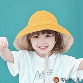兒童遮陽帽大檐帽子親子漁夫帽寶寶薄款盆帽夏季防曬【淘夢屋】