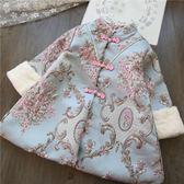 女童冬裝加厚唐裝旗袍裙2019新款兒童寶寶裙子連身裙拜年棉服外套