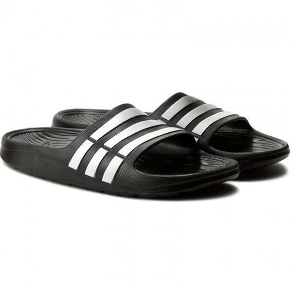 Adidas Duramo Slide K 女 大童鞋 黑色 運動拖鞋 大童鞋 休閒 防水 涼拖鞋 黑 白 G06799
