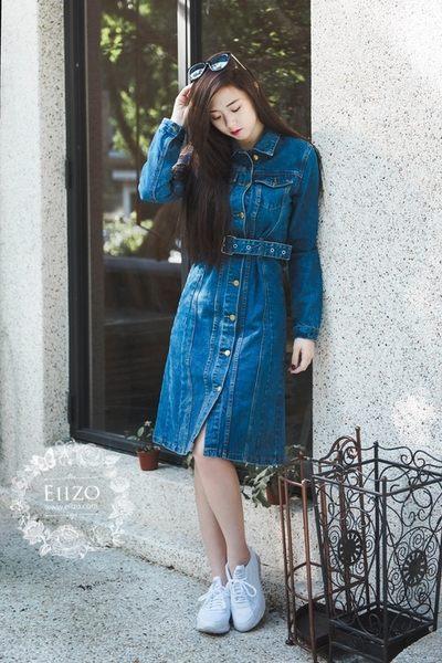 【EIIZO】挺版合身牛仔洋裝