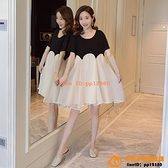 洋裝連身裙孕婦春裝假兩件式裝時尚款春秋上衣夏天裙子網美夏裝連身裙潮【小桃子】