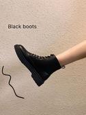 馬丁靴女英倫風新款秋季網紅秋款短靴秋冬季加絨百搭靴子冬