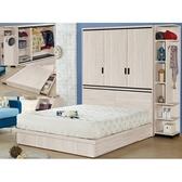 床架 QW-110-2 伊凡卡5尺衣櫃雙人床組 (床頭+床底)(不含床墊) 【大眾家居舘】