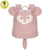 【新品上市送收納盒】德國Lassig-兒童動物造型後背包-栗鼠