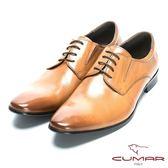 CUMAR 優雅紳士 修飾身形簡約紳士皮鞋-棕色