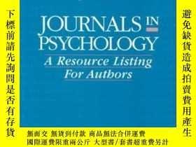 二手書博民逛書店Journals罕見In Psychology: A Resource Listing For Authors (