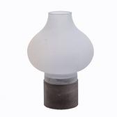 光影花型玻璃水泥燭臺