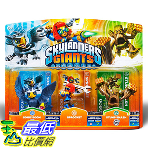 [美國直購] Activision B009716CFK Skylanders Giants 3 Pack Sonic Boom Sprocket Stump Smash 玩偶