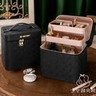 化妝箱卡莉化妝包大容量女化妝收納盒大號便攜化妝箱【少女顏究院】