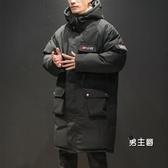 棉服外套 男士中長版加厚ins潮胖工裝冬季棉衣正韓寬鬆加肥加大碼XW