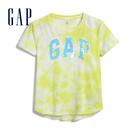 Gap女童 Logo可撥動亮片棉質圓領短袖T恤 552663-黃色紮染