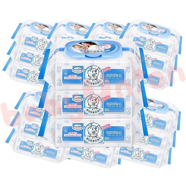 Baan貝恩 - 全新配方 嬰兒保養柔濕巾80抽 24包/箱