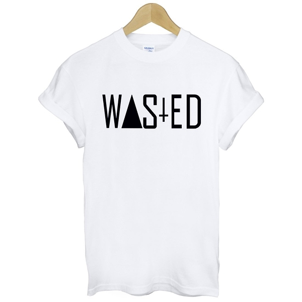 WASTED CROSS短袖T恤 2色 浪費光陰十字架三角形幾何潮流滑板街頭文字 gildan 390