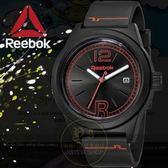 Reebok運動潮流品牌CLASSIC R-NEONLIGHT系列腕錶-黑/44mm RC-CNL-G3-PBPB-BO