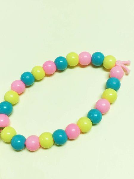 【震撼精品百貨】Hello Kitty 凱蒂貓~手環/手鍊-彩色珠造型