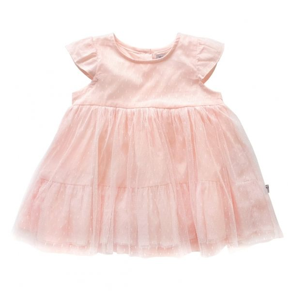 洋裝 丹麥 Wheat 點點蕾絲紗裙短袖洋裝  S162536778
